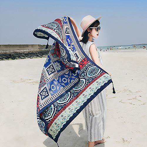 Bufandas envuelven Estilo Chino Playa otoño señoras