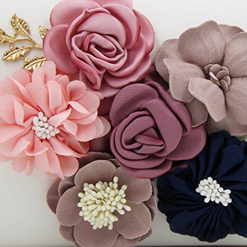 Milisente Blume Damenhandtasche Clutches Damen Abend Party Tasche f¨¹r Hochzeit White A