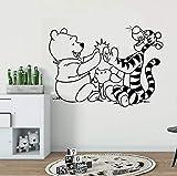 stickers muraux sticker mural Winnie l'ourson créatif décor pour chambre d'enfants Tigger Porcinet personnage de dessin animé Winnie Sticekr