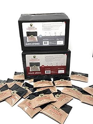100 ESE Coffee Paper Pods 44mm, Mixed Selection, Gran Cafe Garibaldi, Italian Espresso