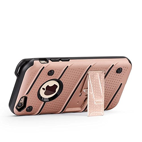 Ultra Thin Slim Dual Layer PC + Soft TPU Back Schutzhülle Fall [Shockproof] mit Kickstand für iPhone 6 / 6s ( Color : Gold ) Rosegold
