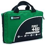 Sac de trousse de premiers secours de 160 pièces - Comprend un paquet de glace, couverture d'urgence, Glow Stick, boussole, ciseaux pour (Vert)