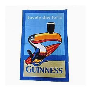 Guinness Serviette de plage Motif Toucan à 64 cm x 34 cm