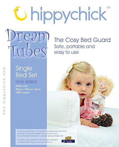 Hippychick-Dreamtubes-Accessoire-Barrire-de-Lit-Gonflable-Seul-Ct-et-son-Drap-ensemble-Lit-Simple-Blanc-90-x-195-x-25cm-jupe-et-17cm-gardes-levs