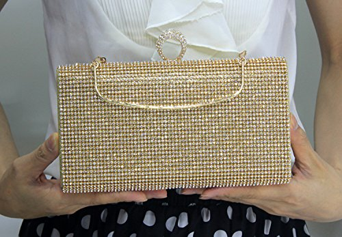 MS clutch bag Handtasche Mermaid diamond Diamond Trade Yanbao braut Square Lady Black single side drill