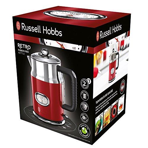 Russell Hobbs Retro 21670-70 Bollitore Elettrico, 2400 Watt, 1.7 Litri, Acciaio Inossidabile, Rosso lista dei prezzi