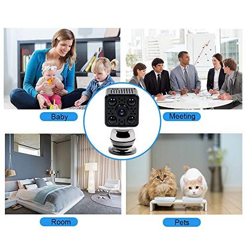 Mini Camera Spia LXMIMI Telecamera Nascosta Telecamera 1080P Wifi Telecamera Spia Videocamera 140 ° Grandangolare Nascosta Microcamera con Visione Notturna e Rilevamento del Movimento - 9