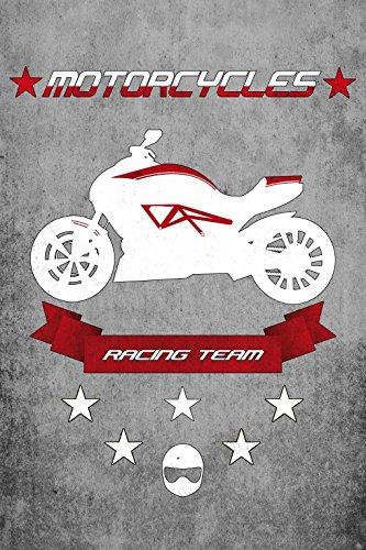Preisvergleich Produktbild 1art1 85715 Motorräder - Racing Team Selbstklebende Fototapete Poster-Tapete 180 x 120 cm