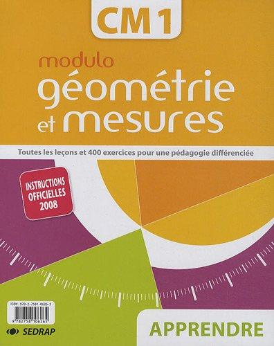 Modulo géométrie et mesures CM1 : Apprendre