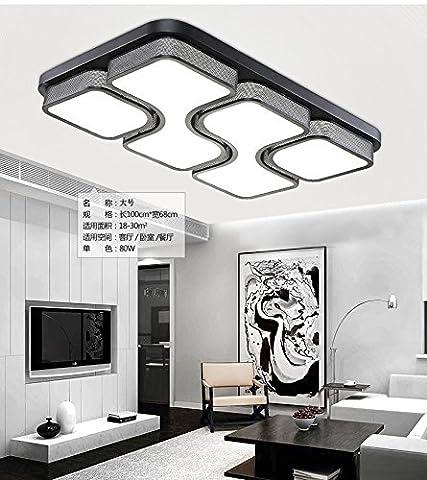 Modernes, minimalistisches LED Schlafzimmer, Deckenleuchte, stimmungsvolles Wohnzimmer Lampe, modernes, minimalistisches Restaurant, Hallenbeleuchtung, personalisierte Studie Schlafzimmer, Electrodeless Dimmen, 54 W (78 * 52)
