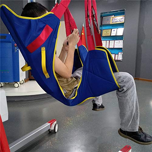 51%2BmDgKxSTL - MYLW Paciente Levantar Transferir Cinturón con Seis Punto Apoyo Cuerpo Completo Seguro Transferir,Ayudar Izar Paso Cinturón con Pesado Deber