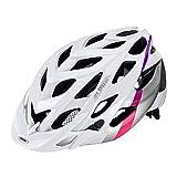 ALPINA A9634110 Fahrradhelm Alpina D-Alto MTB, Gr. 52-57 cm, weiß/silber/pink (1 Stück)