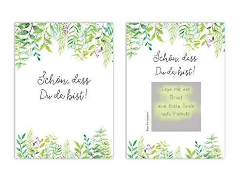 """50 Rubbelkarten \""""Grüne Hochzeit!\"""", Hochzeit Spiel, Gastgeschenk Hochzeit"""