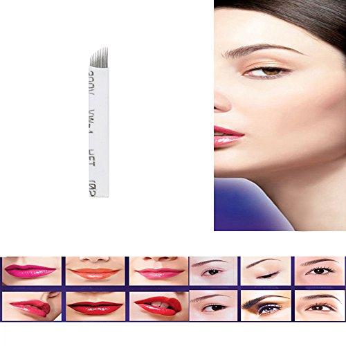 LHWY 10Pcs 11Pins aiguilles permanente femmes maquillage sourcils tatouage lames