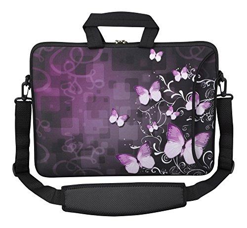 MySleeveDesign Laptoptasche Notebooktasche Umhängetasche Größe 15,6 Zoll und 17,3 Zoll - mit VERSCH. DESIGNS - Butterfly Fusion [17] -