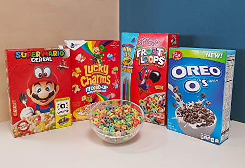 Oreo+Froot Loops+Lucky Charms+Super Mario Cereal