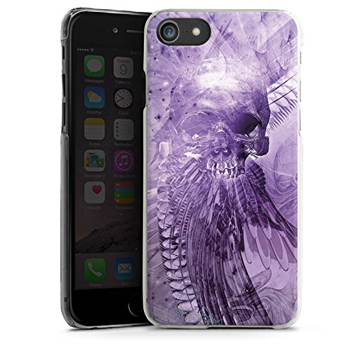 Apple iPhone X Silikon Hülle Case Schutzhülle Skull Totenkopf Lila Hard Case transparent
