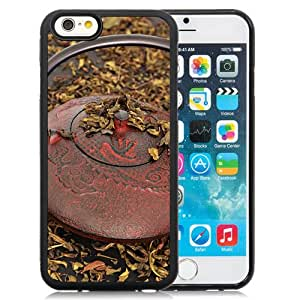 6 Phone cases, Kettle Tea Cups Tradition Black iPhone 6 4.7 inch TPU cell phone case