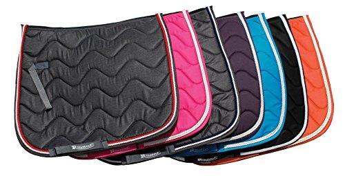new-rhinegold-wave-padded-horse-or-pony-saddle-cloth-pad-fab-colours-all-sizes-turquoise-cob