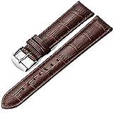 Bracelet en Cuir Vintage 18mm 20mm 22mm Bracelet en Cuir de Montre de Rechange, adapté à la Montre Traditionnelle Montre Sport...