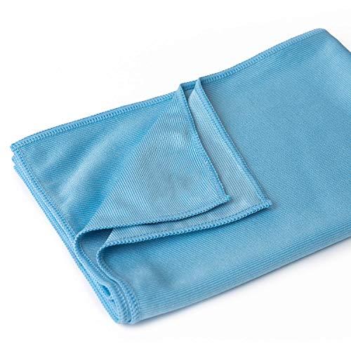 Sonty 10 Stück Fenstertuch Premium, Microfasertuch 50 x 70 cm in blau (10)