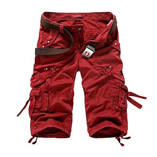 Cargo Plus Größe Shorts (WYX 5 Farben Plus Größe 29-38 Neue Sommer Camouflage Lose Cargo Shorts Männer Camo Sommer Kurze Hosen Homme Cargo Shorts,e,32)