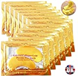 Premium Crystal Gold Collagen EYE Mask Crystal Bio Anti Wrinkle Moisture Skin Care Patch Pad with Lavender Essential Oil, Collagen, Haluronic acid (x5 Collagen Masks)
