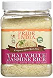 Pride Of India thai arroz blanco jazmín fragante hom arroz mali, tarro 1,5 libra