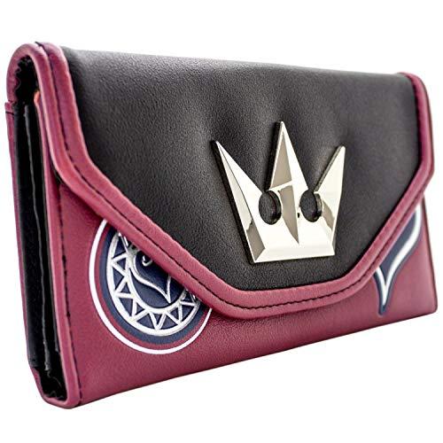Cartera de Kingdom Hearts Corona de Plata Rojo
