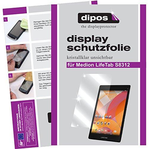 dipos I 2X Schutzfolie klar passend für Medion Lifetab S8312 (MD 98989) Folie Displayschutzfolie