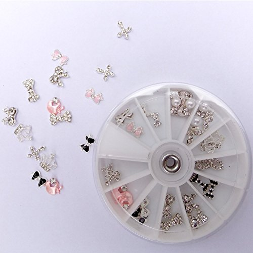 Five Seasons 3D Rhinestones Crystal Papillons Noeuds Déco Manucure / iPhone Etui