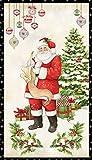 Wilmington WIL34 Stoffpaneel, Weihnachtsmann, 60 x 110 cm,