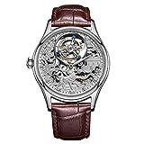 Relojes para Hombres Reloj De Zafiro Mecánico De Cuerda Manual Estilo De La Marca Segundo