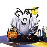 Papier Spiritz Pop bis Halloween Karte, Verbesserte Farbe Druck/und Ghost 3D handgefertigte Grußkarte mit Notiz-Karte und Umschlag–15,2x 15,2cm Cover