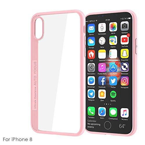 CaseforYou Hülle iphone X Schutz Gehäuse Hülse Ultra Thin Eagle-eye Case Cover Anti-scratch Cellphone Protective Shell Schutzhülle für iphone X Handy (Blue) Pink