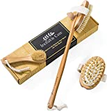 Body & Face Brush set for Dry Skin Brushing with Natural Boar Bristles