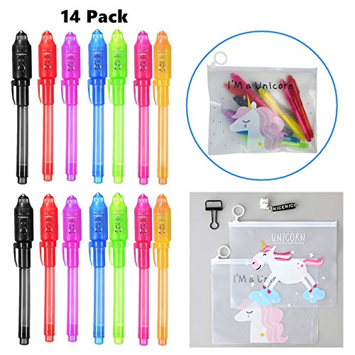 OBUZOO Invisible Ink Pen, UV Invisible Ink Marker Spy Pen Geheimbotschafter mit UV-Licht Spaß Aktivität Party Favors für Kinder / Stocking Stuffer