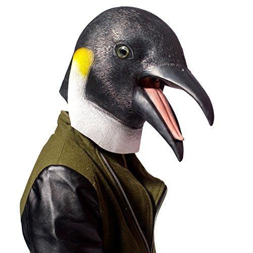 Neuheit-Halloween-Kostüm-Party-Latex-Tierkopf-Schablone Masken Der Pinguin (Pinguin Halloween Kostüme)