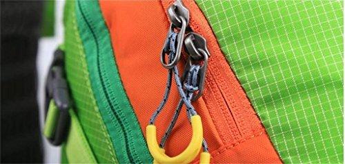 sacchetto di alpinismo uomini e donne borsa tracolla zaino esterno trekking ( Colore : Rose red , dimensioni : 36-55L ) Verde