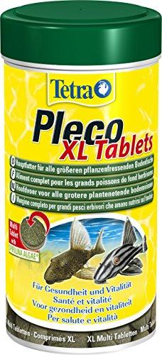 Tetra Pleco XL Tablets (Grünfutter-Tabletten mit Spirulina-Algen, Hauptfutter für alle größeren pflanzenfressenden Bodenfische und scheuen Zierfische), 133 Tabletten Dose -