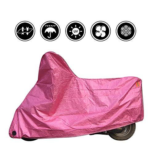 ALGWXQ Copertura Antipioggia for Moto Protezione della Neve Anti-UV Protezione Solare con Serratura Macchina Elettrica, 3 Colori, 5 Taglie (Color : Pink, Size : 246x105x127cm)