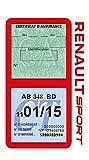 Générique Étui Double Assurance Renault Sport Rouge Porte Vignette adhésif Voiture Stickers Auto Retro