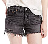 Levis Jeansshorts Women 501 SHORT 32317-0049 Slashed Black, Hosengröße:27