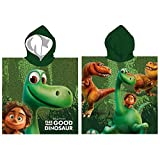 Disney the good Dinosaur: Bademantel/ Kapuzen Poncho , 100% Baumwolle (Frottier)