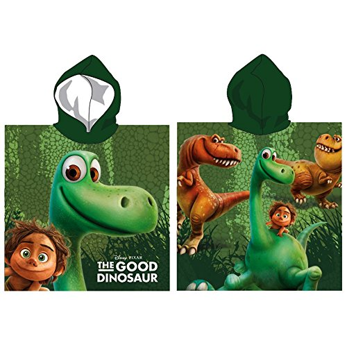 Disney the good Dinosaur: Bademantel/ Kapuzen Poncho , 100% Baumwolle (Frottier)