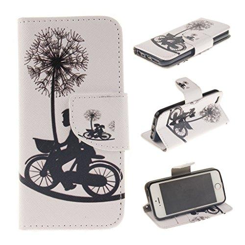 Nutbro iPhone 5C Case, iPhone 5C Wallet Case, [Wallet Case] PU Leather Flip Case For Apple iPhone 5C ZZ-iPhone-5C-47