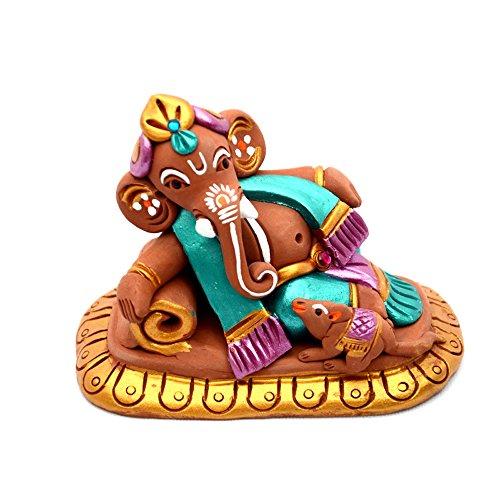 ExclusiveLane Terracotta Handpainted Ganesha / Ganesha idol Resting On Sofa  available at amazon for Rs.616