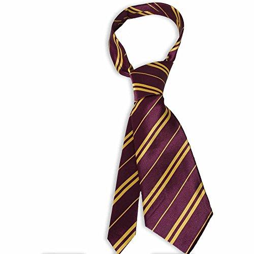 Generique Harry Potter Krawatte Bordeaux-gelb ()