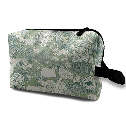 Was ist das Lügen mit der Sheep_582 Travel Cosmetic Bag Tasche Geldbörse Womens Girls Rose Gold