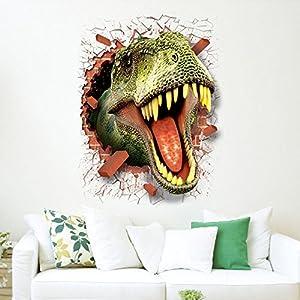 wandaufkleber wandtattoos Ronamick 3D Cool Dinosaurier Vinyl Aufkleber Decals Park Wandbild Kinderzimmer Dekor Wandtattoo Wandaufkleber Sticker Wanddeko (Multicolor)